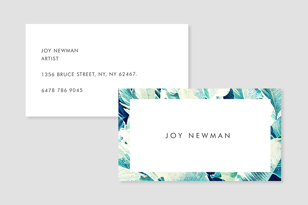 Banana Leaf Crush Business Card Template example image 4