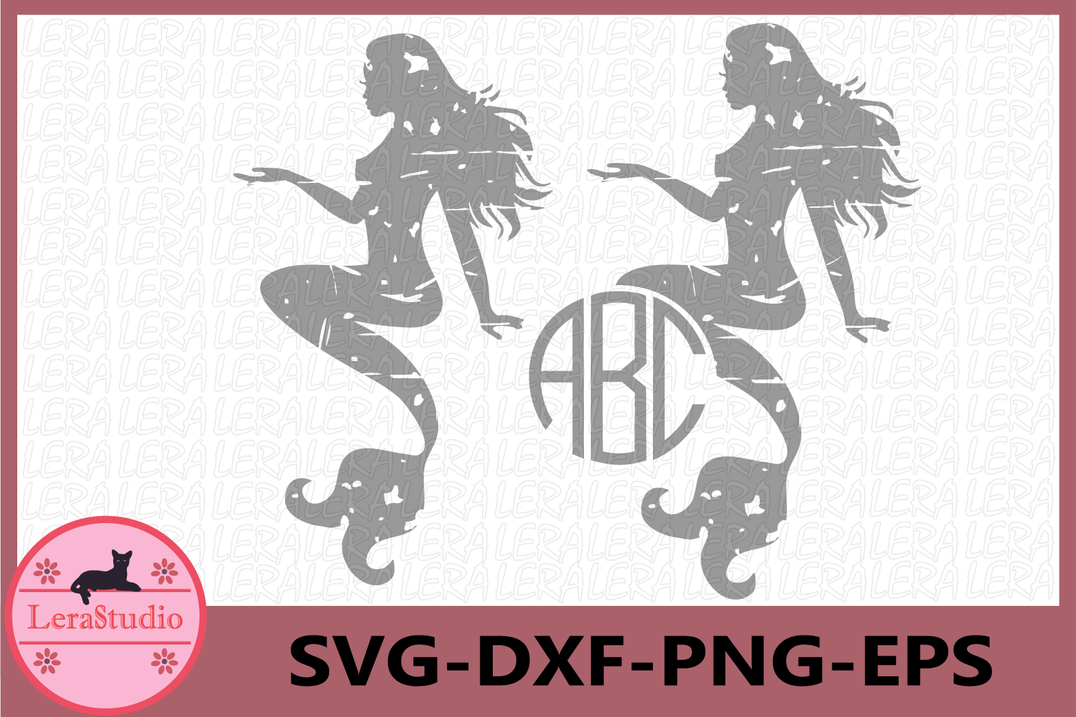 Mermaid Svg, Beach svg, Mermaid Distressed Svg, Mythology example image 1