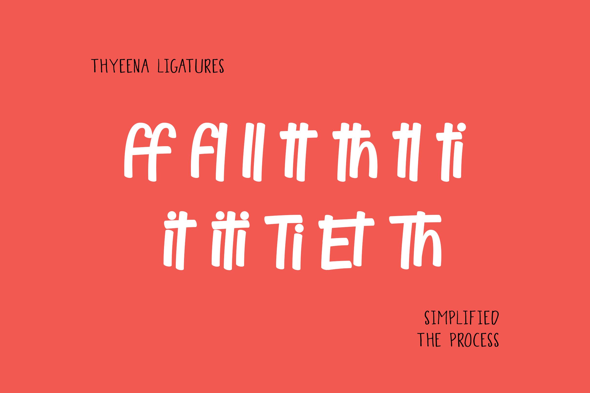 Thyeena Fonts & Illustration example image 13