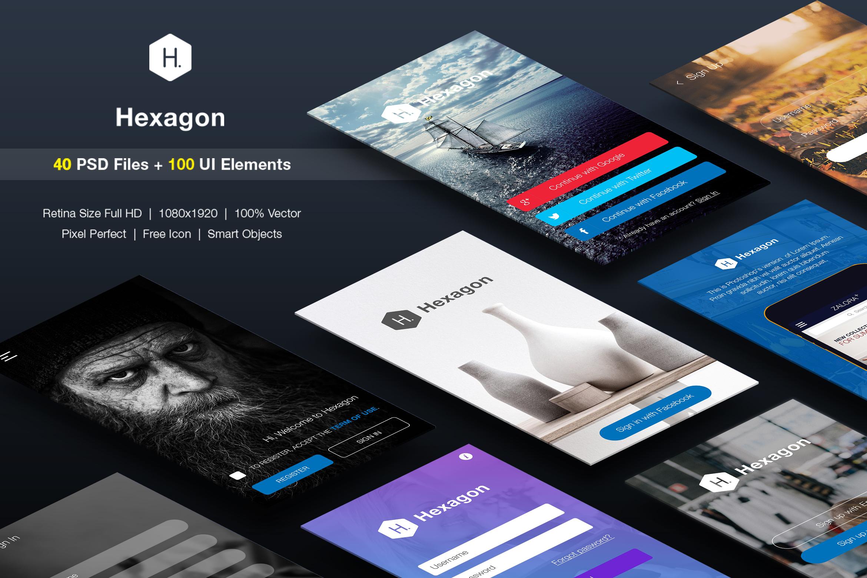 SignUp / Login - Mobile Form UI kit example image 1