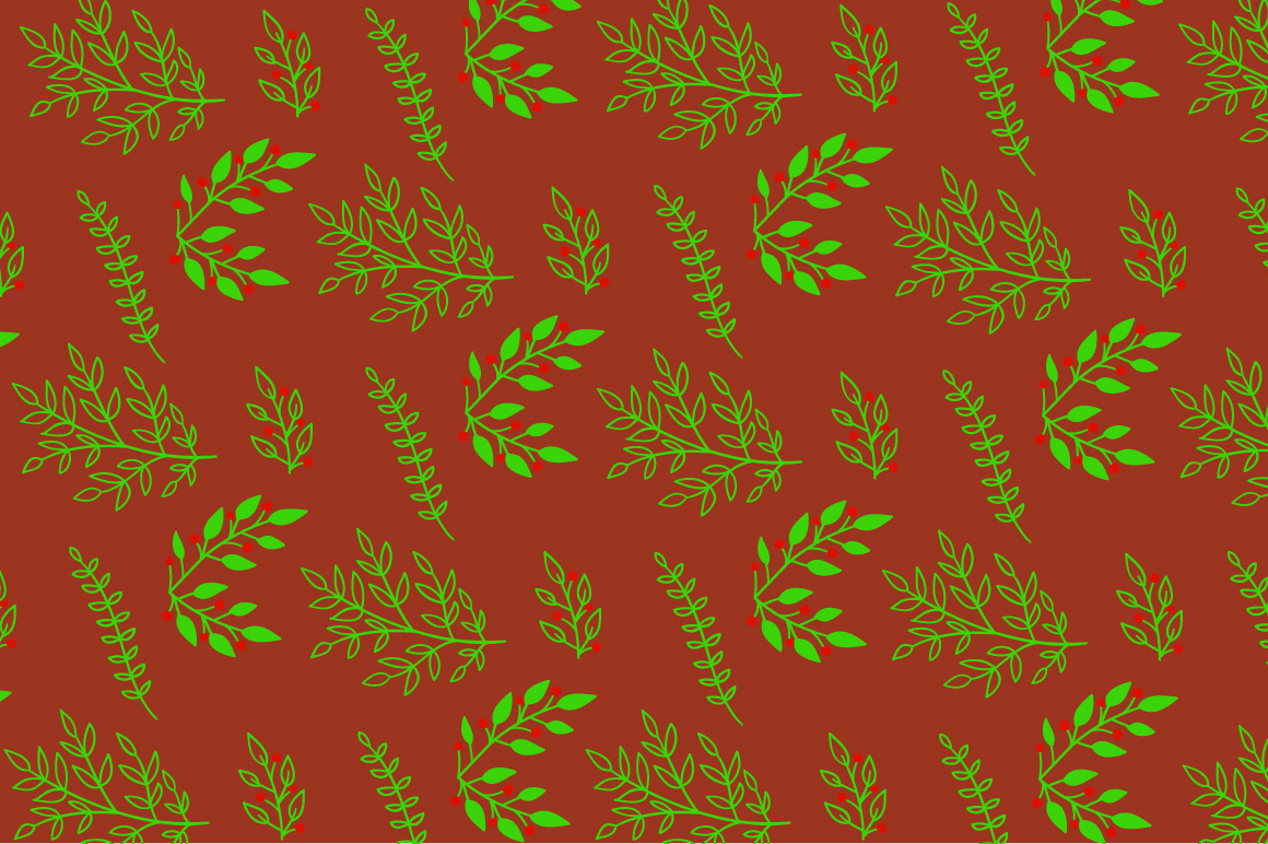 Christmas floral pattern example image 2