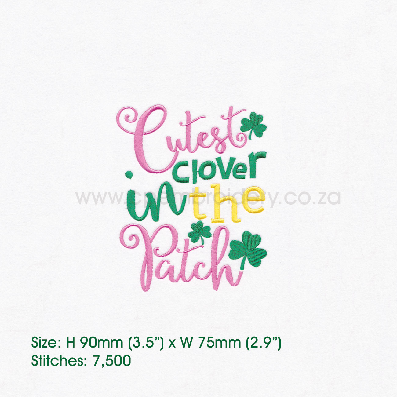 Cutest Clover in the Patch St Patrick's Day Design example image 4