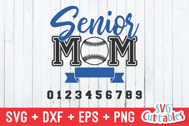 Baseball Softball Senior Mom   svg Cut File example image 2