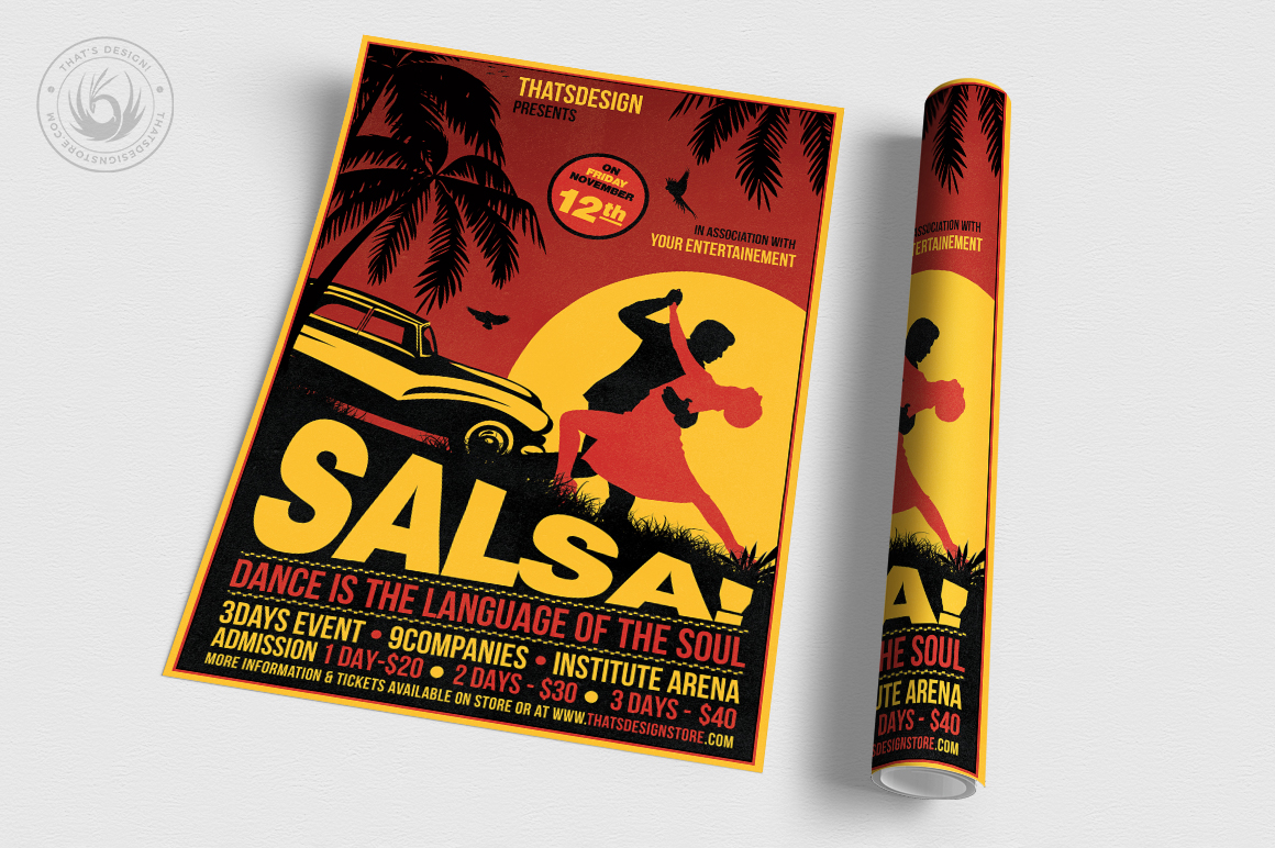 Salsa Flyer Template V3 example image 3
