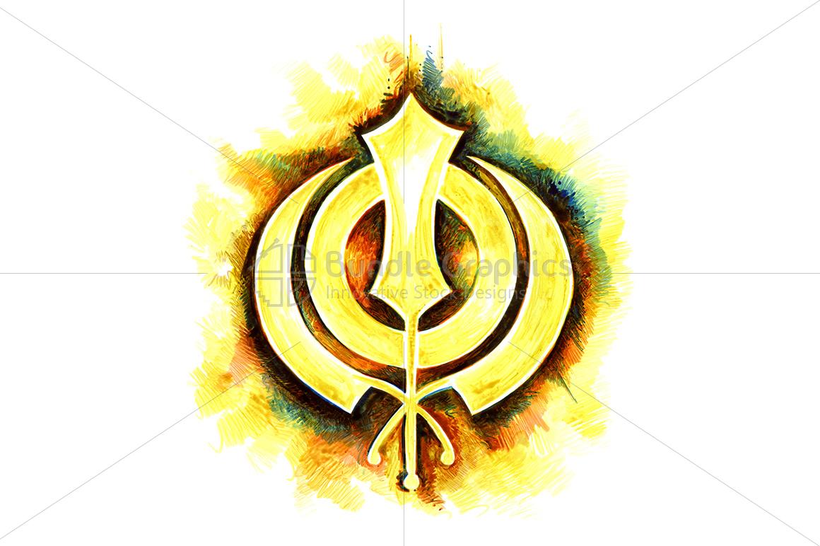 Khanda Sahib - Ink Graphic example image 1