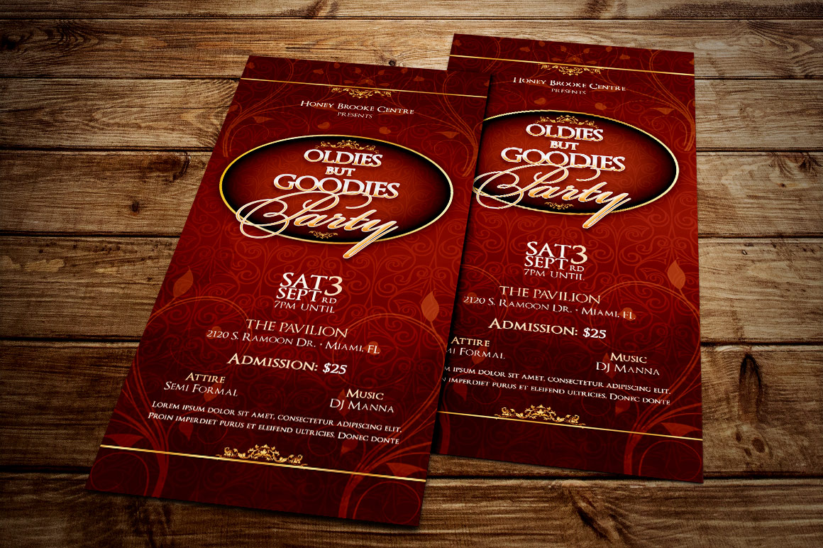 Vintage Party Ticket Template example image 3