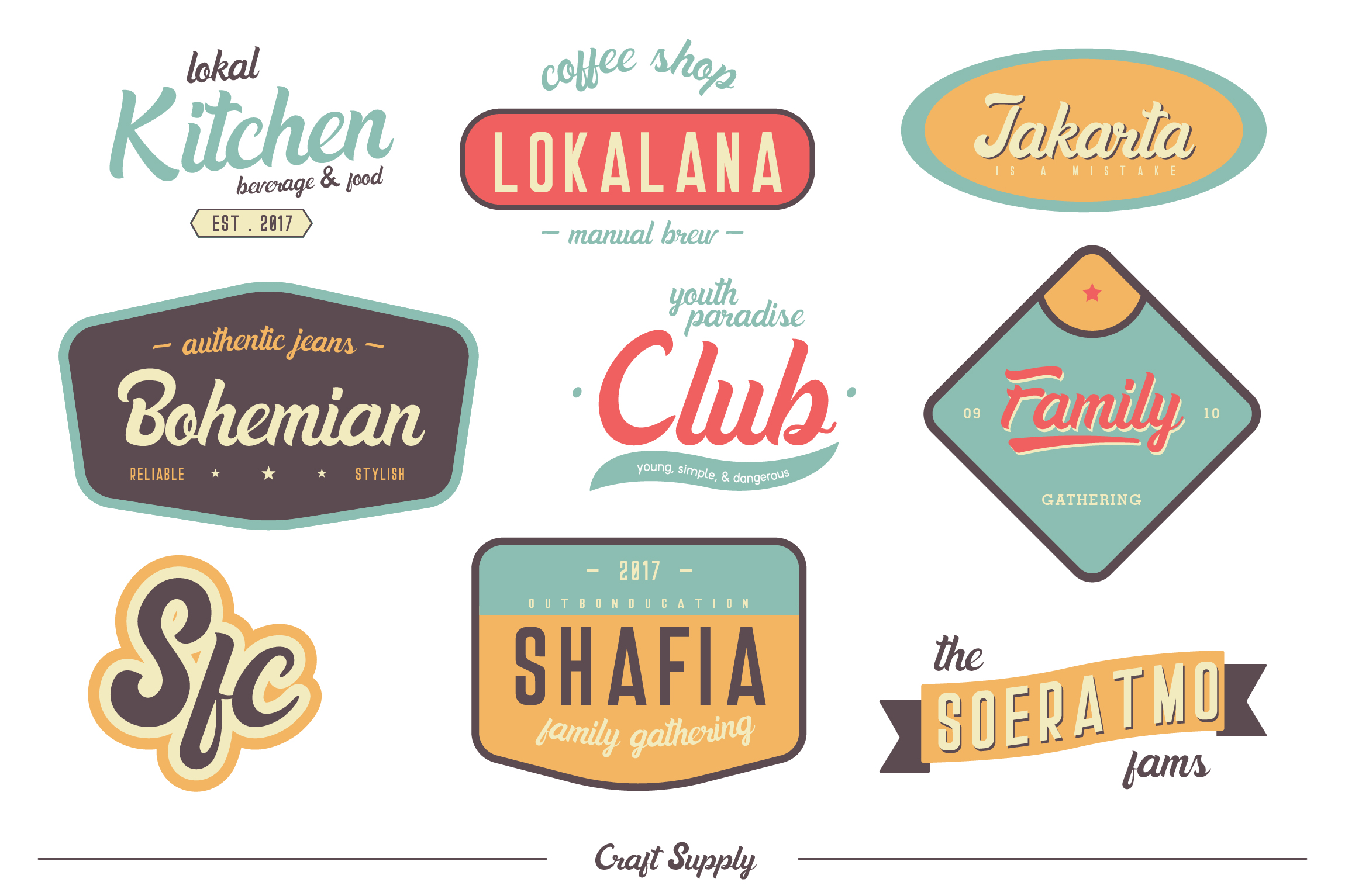 Danilla Font + Premade Logos example image 7