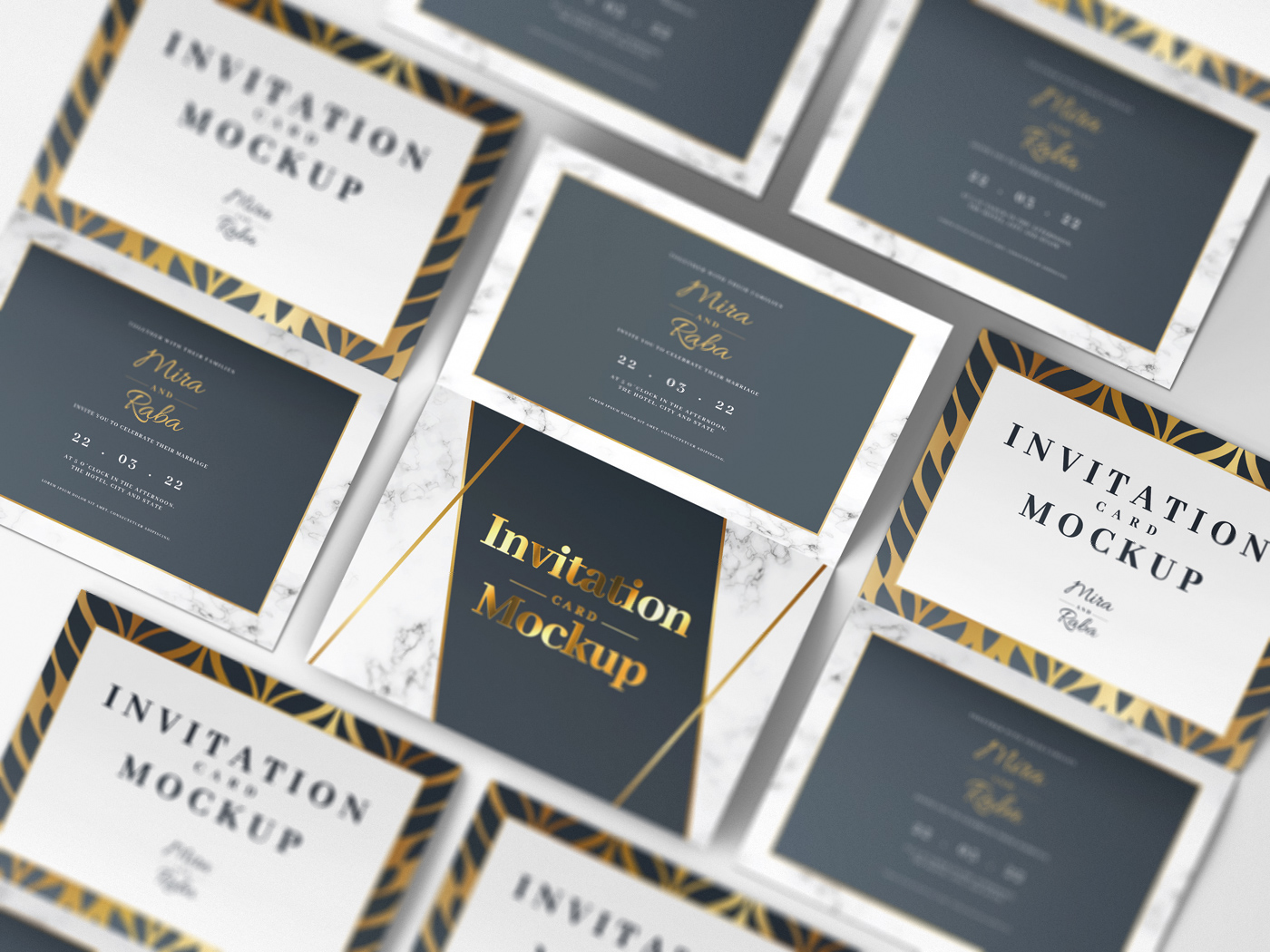 Invitation Card Mockups V1 example image 13