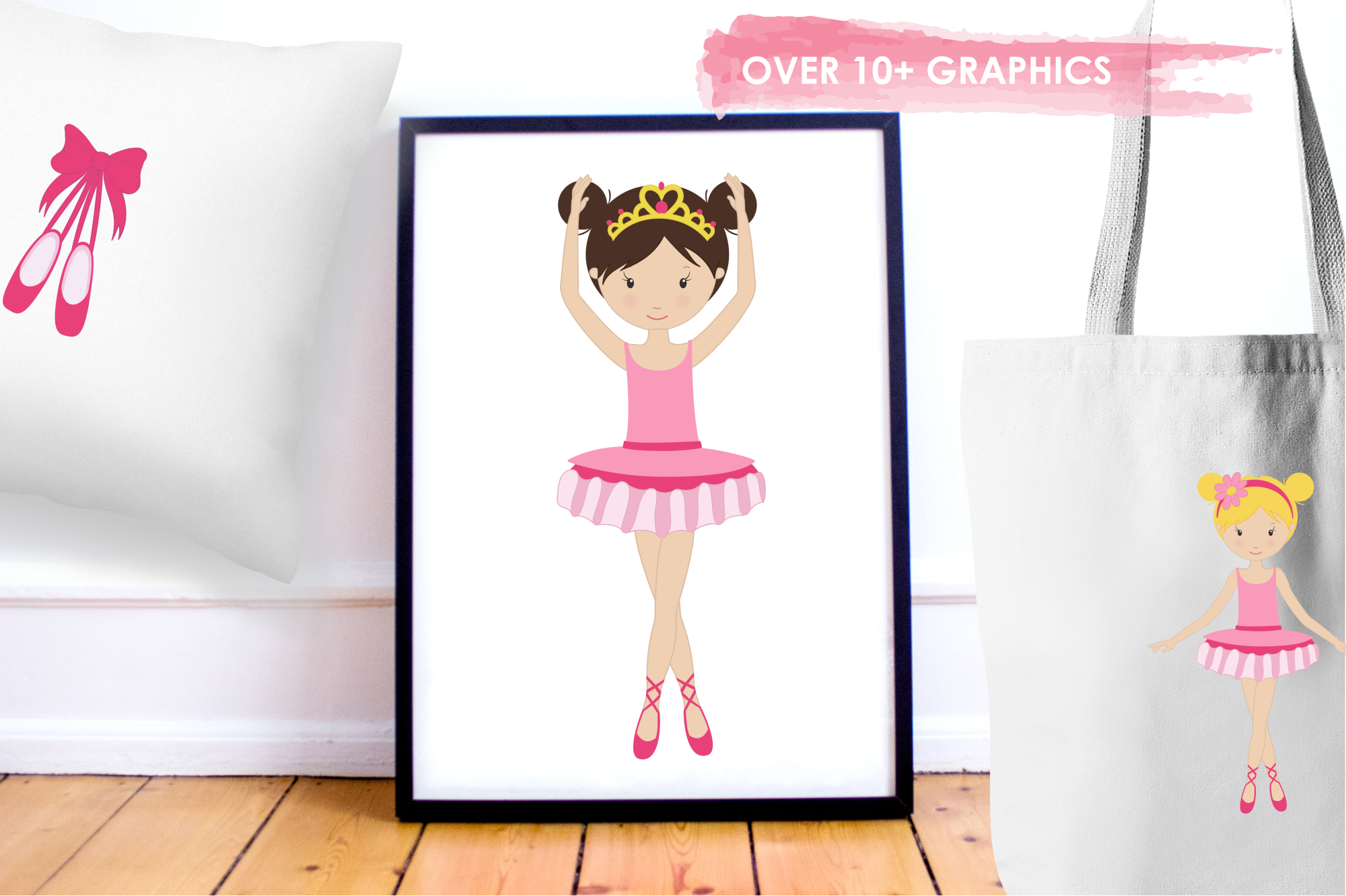 Dancing Ballerinas graphics and illustrations example image 5