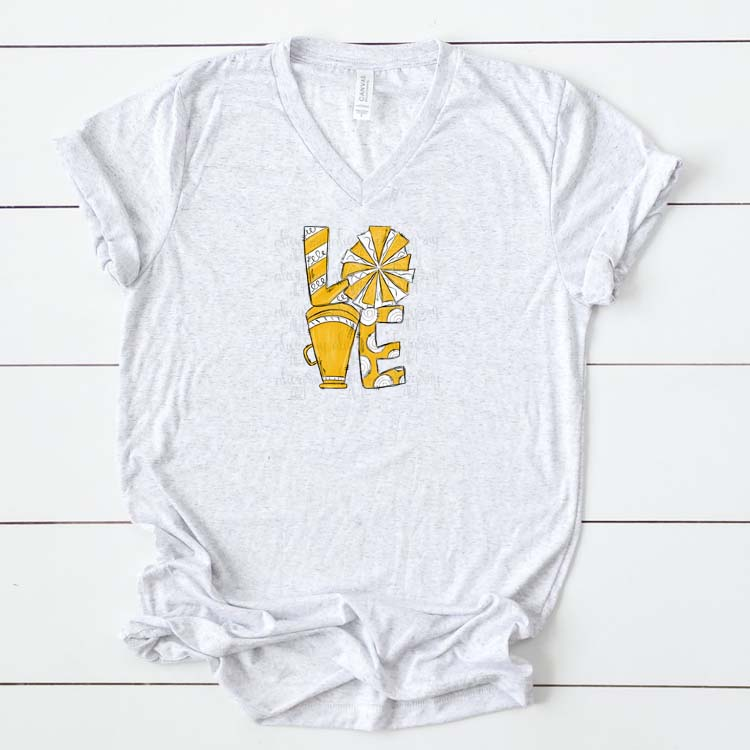 Cheer Love Gold and White example image 2