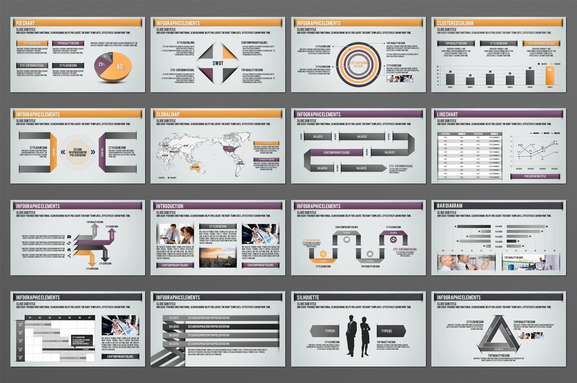 Four Idea PPT Template example image 3