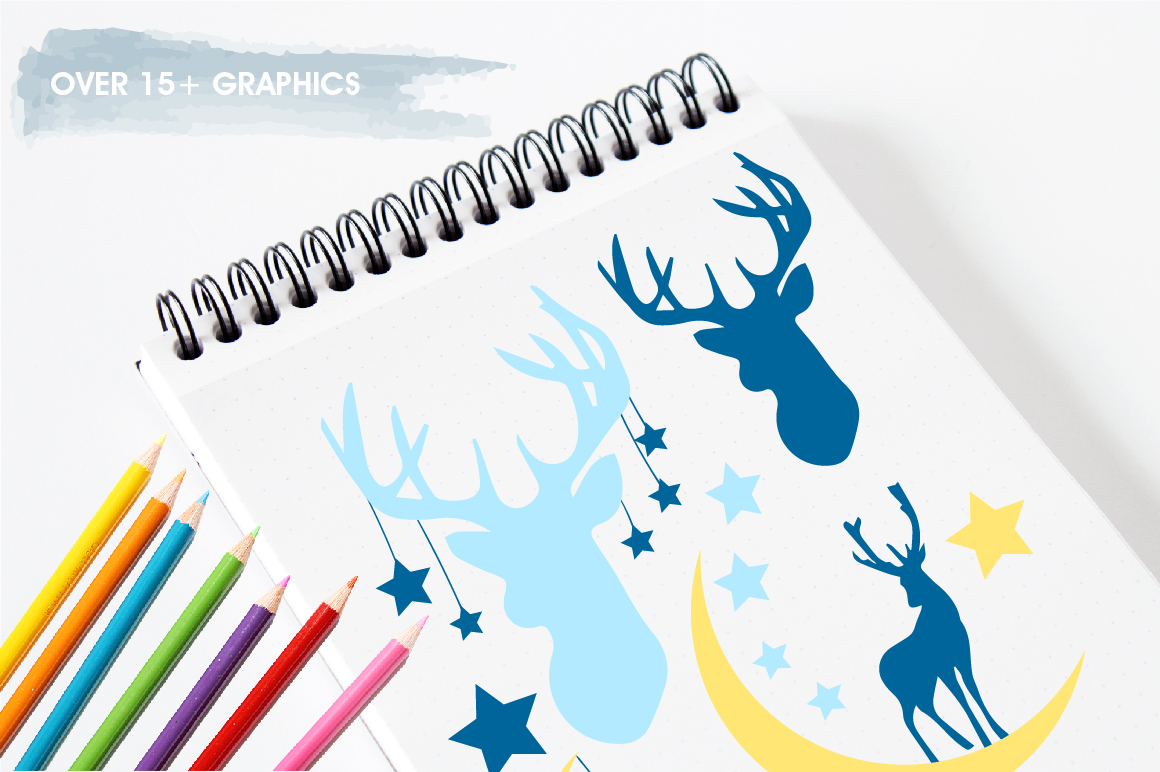 Nursery deers graphics and illustrations example image 3