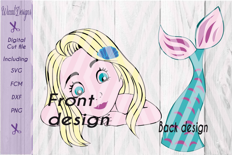 Mermaid svg, mermaid shirt svg, tail svg, girls svg,  example image 2