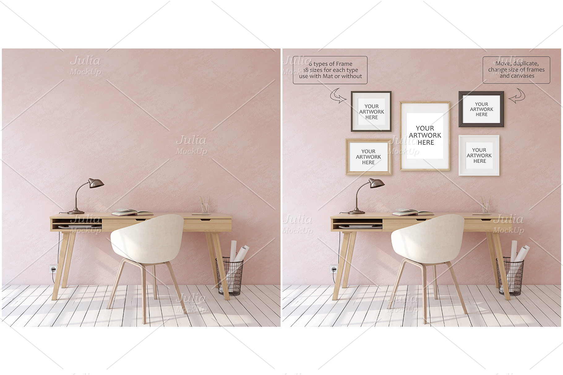 Home office. Frames&Canvases Mockup. example image 3