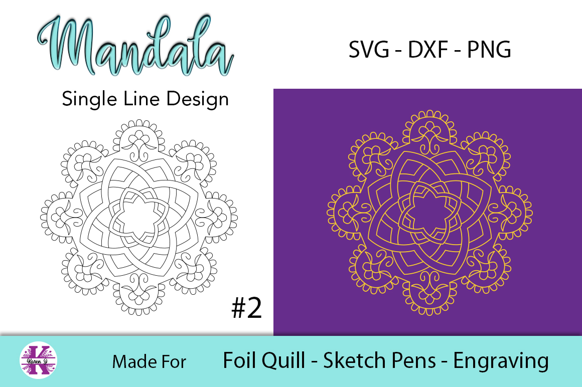Mandala #2 for Foil Quill |Sketch Pen | Embossing example image 1