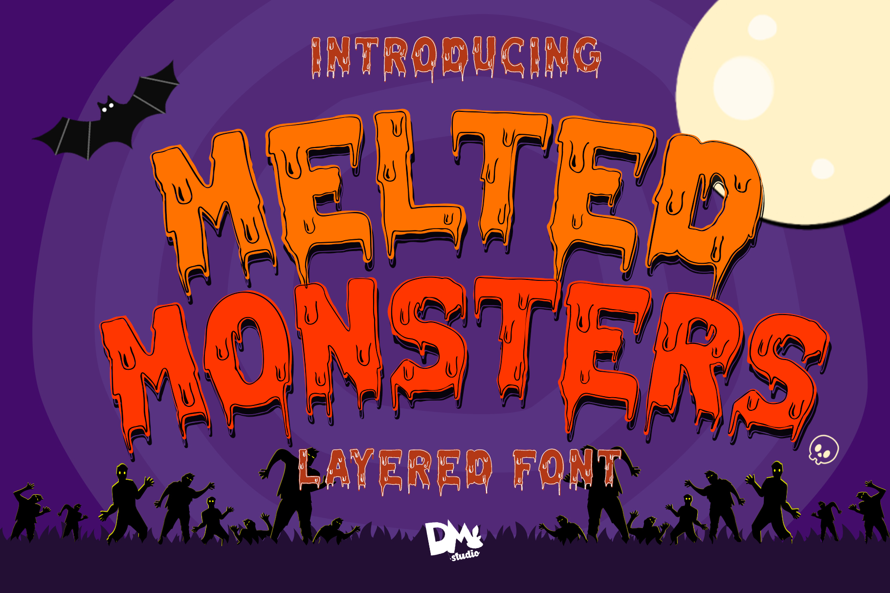 Melted Monster - Halloween Pack Layered Font example image 9