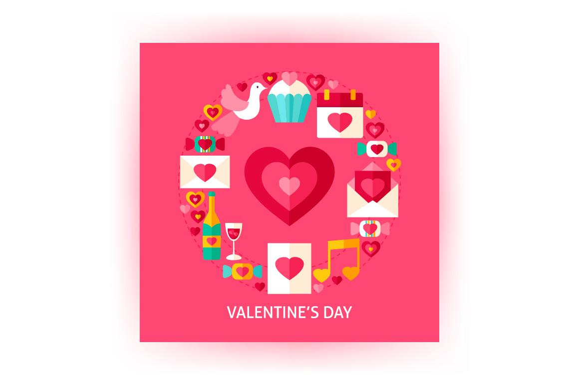 Valentines Day Vector Posters example image 2