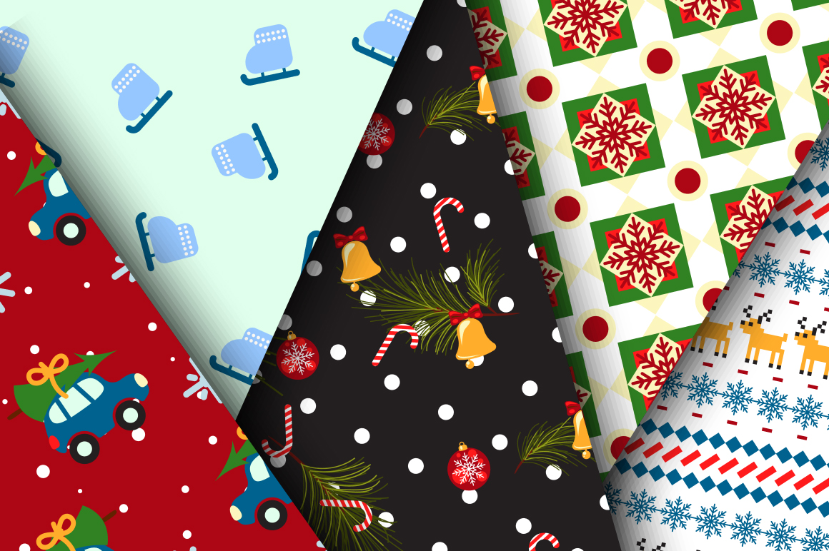 Xmas Mood Seamless Patterns example image 4