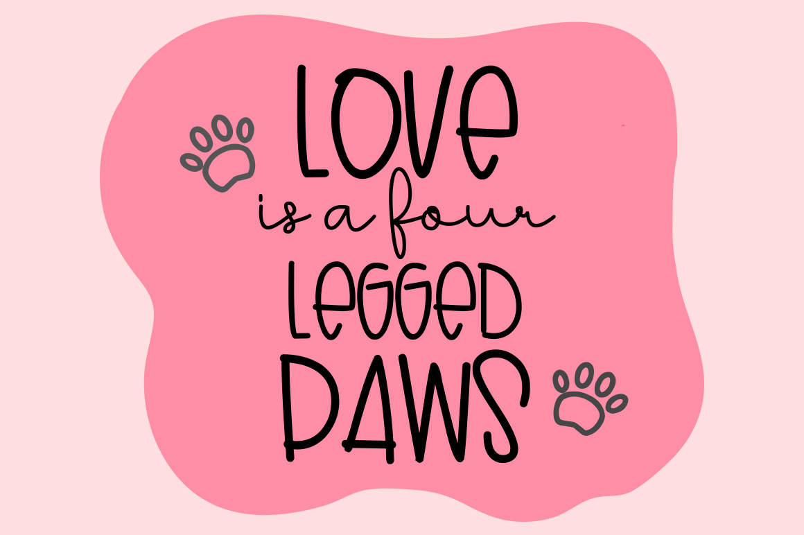 Lovely Puppy - Font duo with bonus example image 5