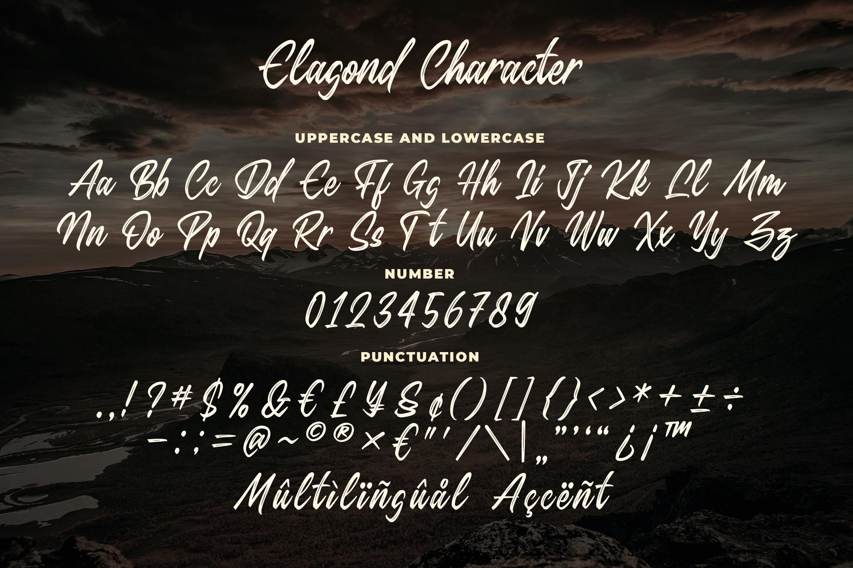 Elagond - Inline Brush Script example image 4