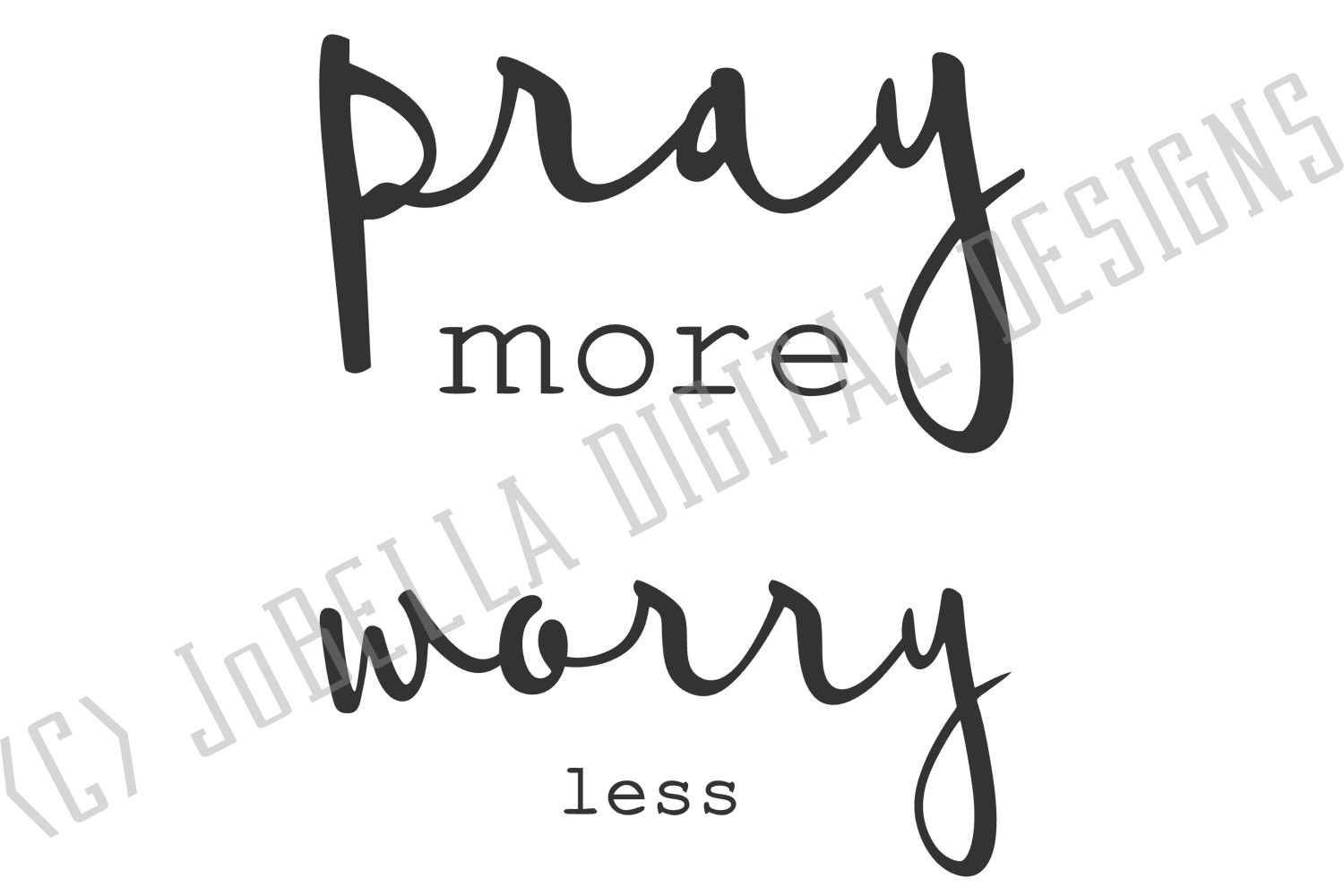Pray More Worry Less SVG and Printable Christian Design example image 4