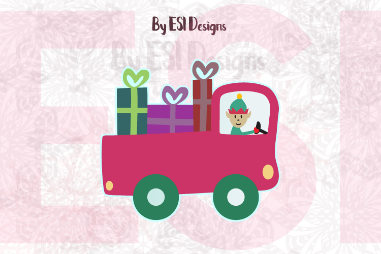 Christmas Truck with Elf example image 1