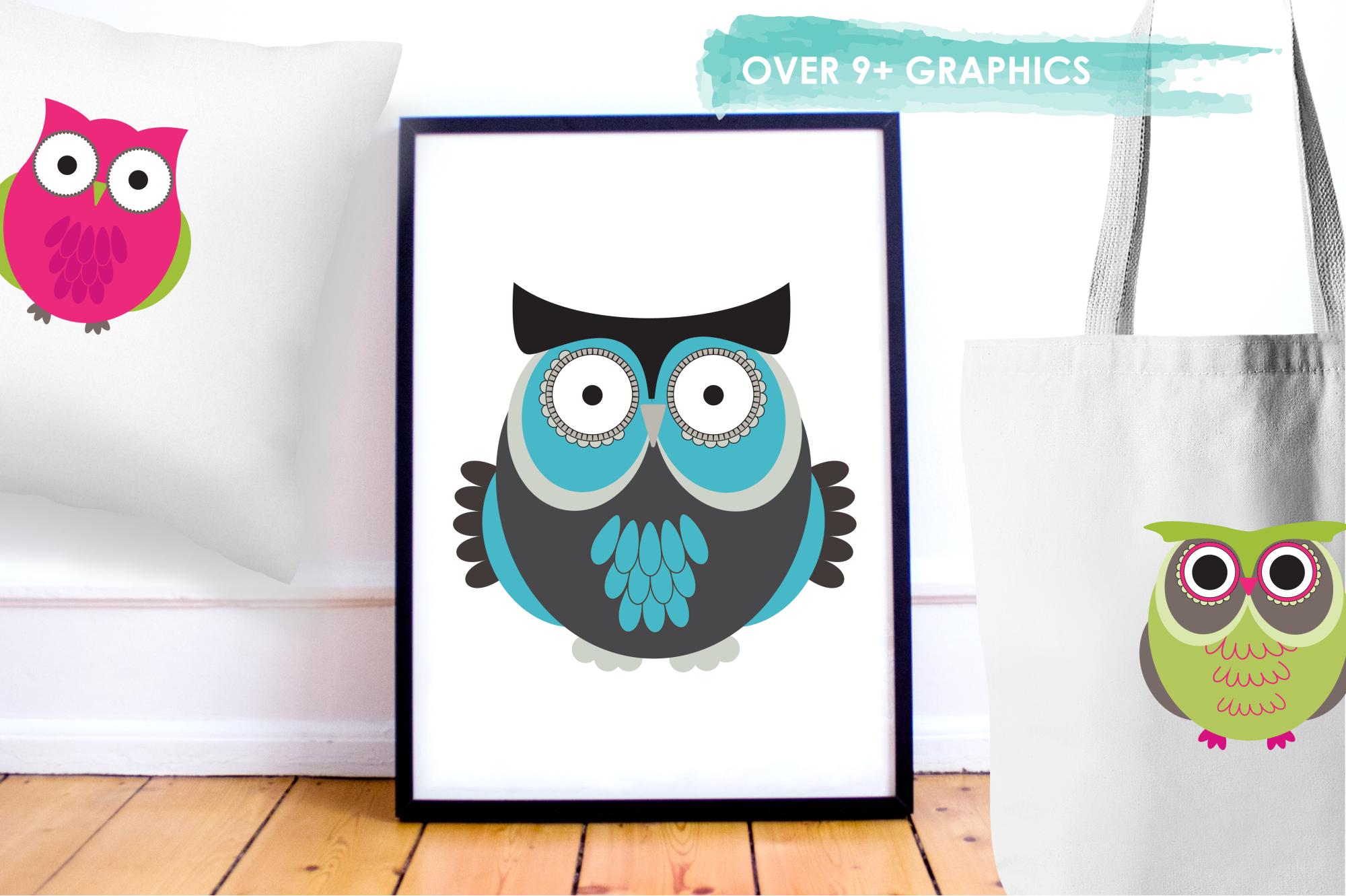 Owl Hoots graphics and illustrations example image 5