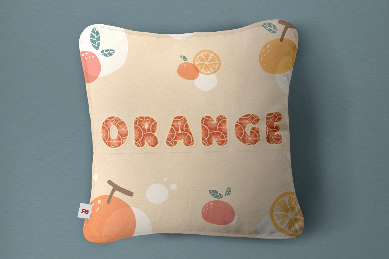 Orange Alphabet Set example image 2