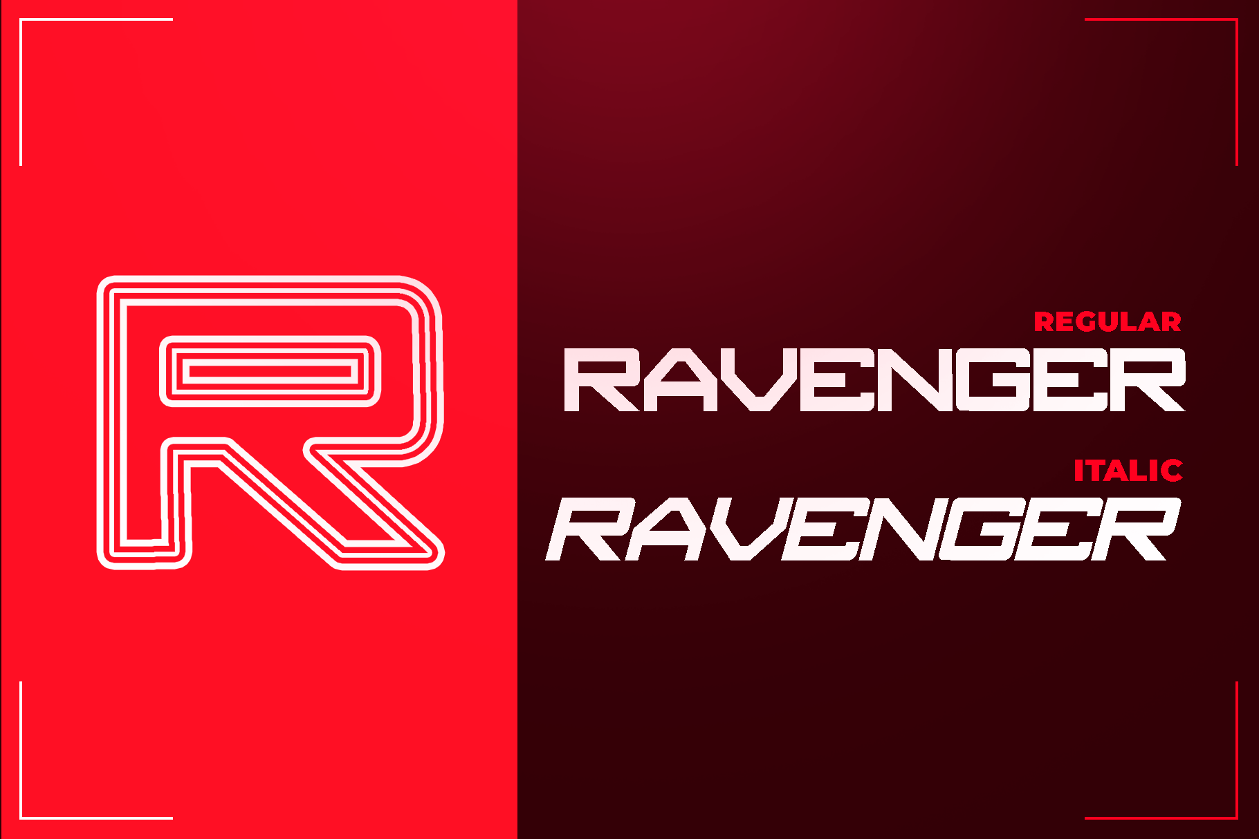 RAVENGER EXCLUSIVE DISPLAY FONT example image 3