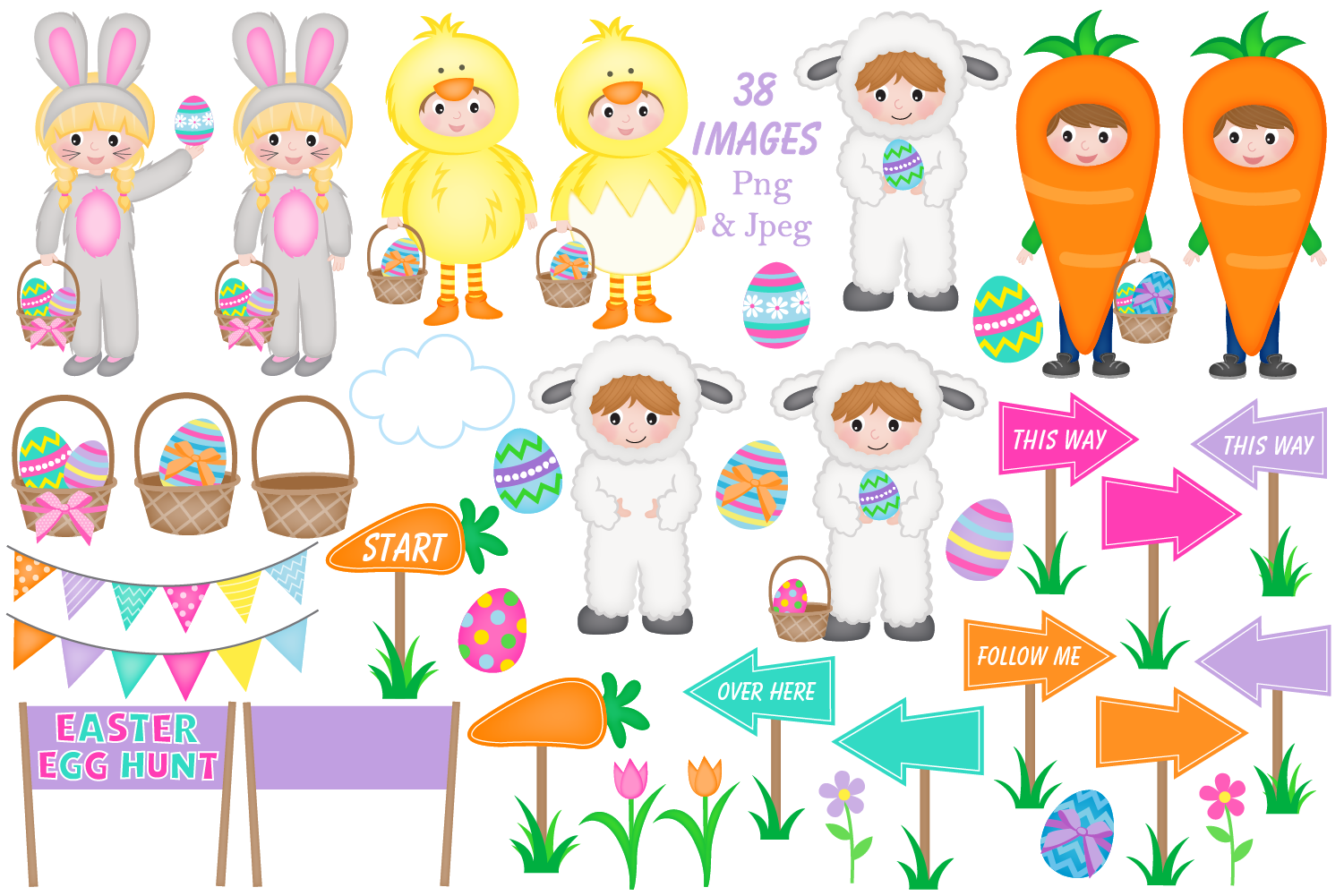 easter clipart graphics & illustrations - C32 example image 2