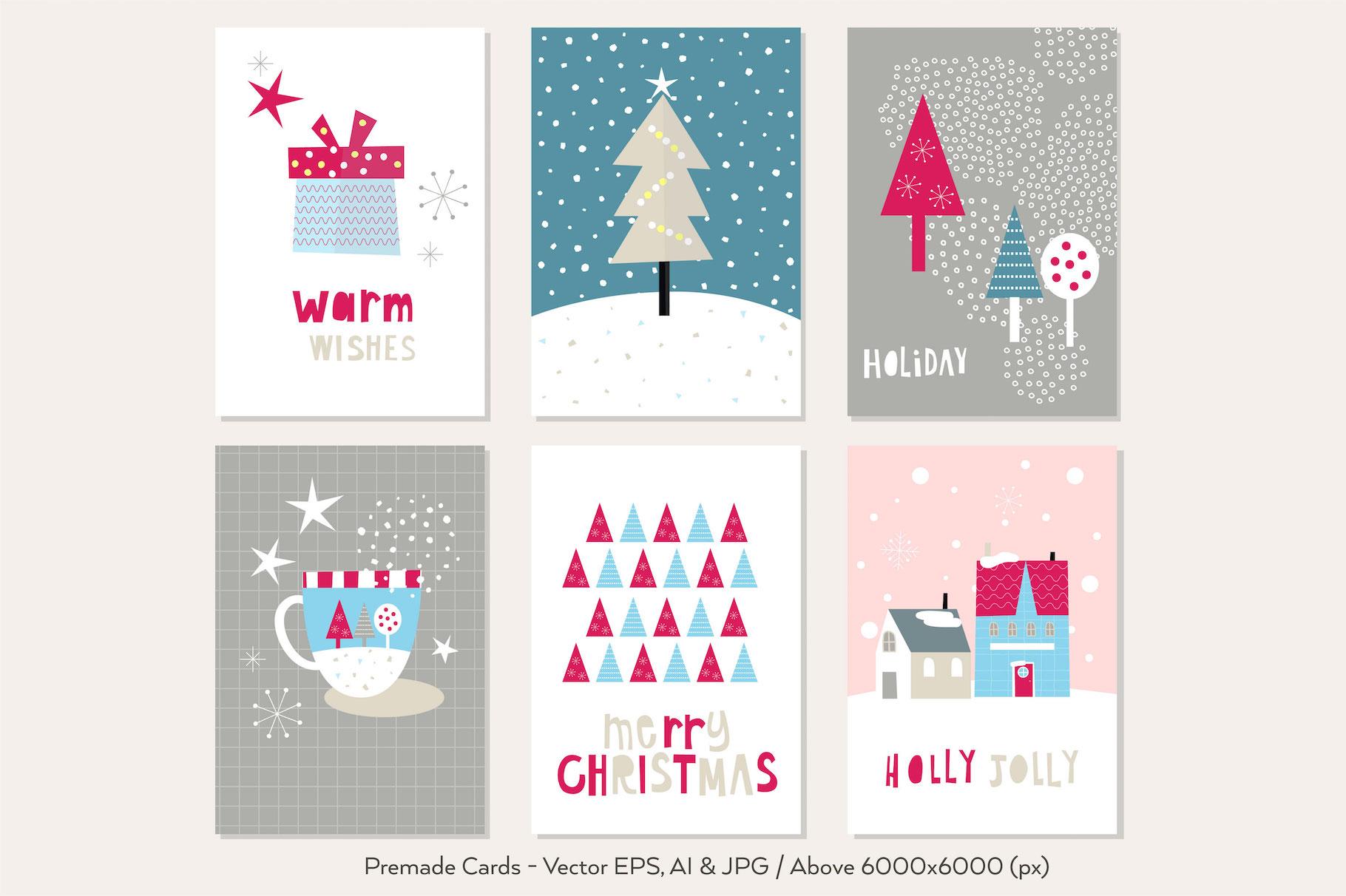Happy Flat Holiday! Design Kit example image 3