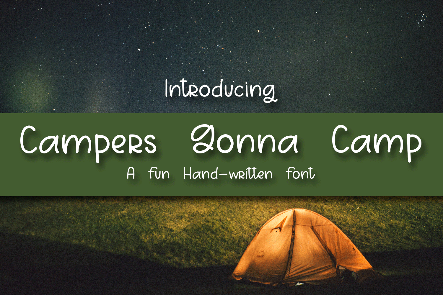 Campers Gonna Camp - A Fun Hand-Written Font example image 1