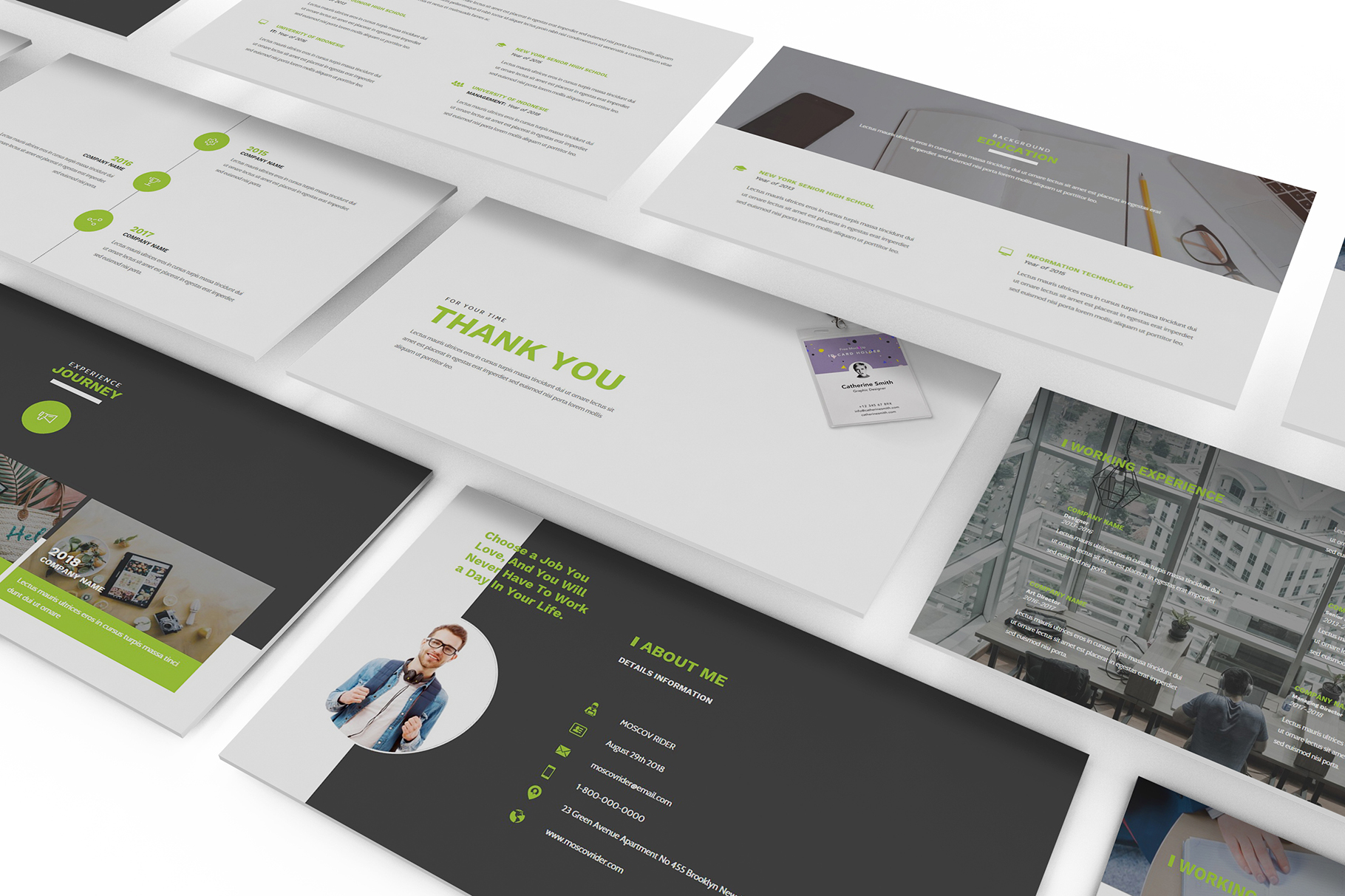 Resume CV Powerpoint Template example image 3