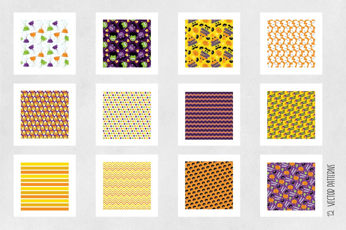 HALLOWEEN, digital papers example image 2