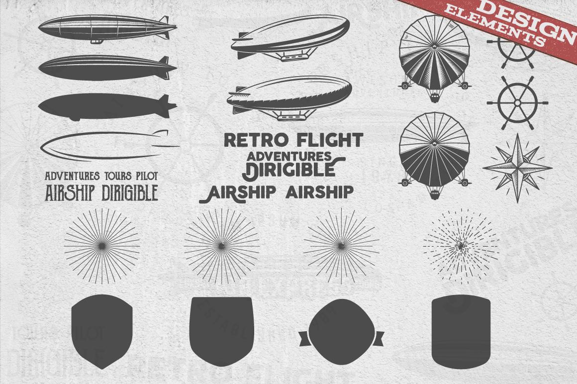 Airship Badges & Design Elements example image 3