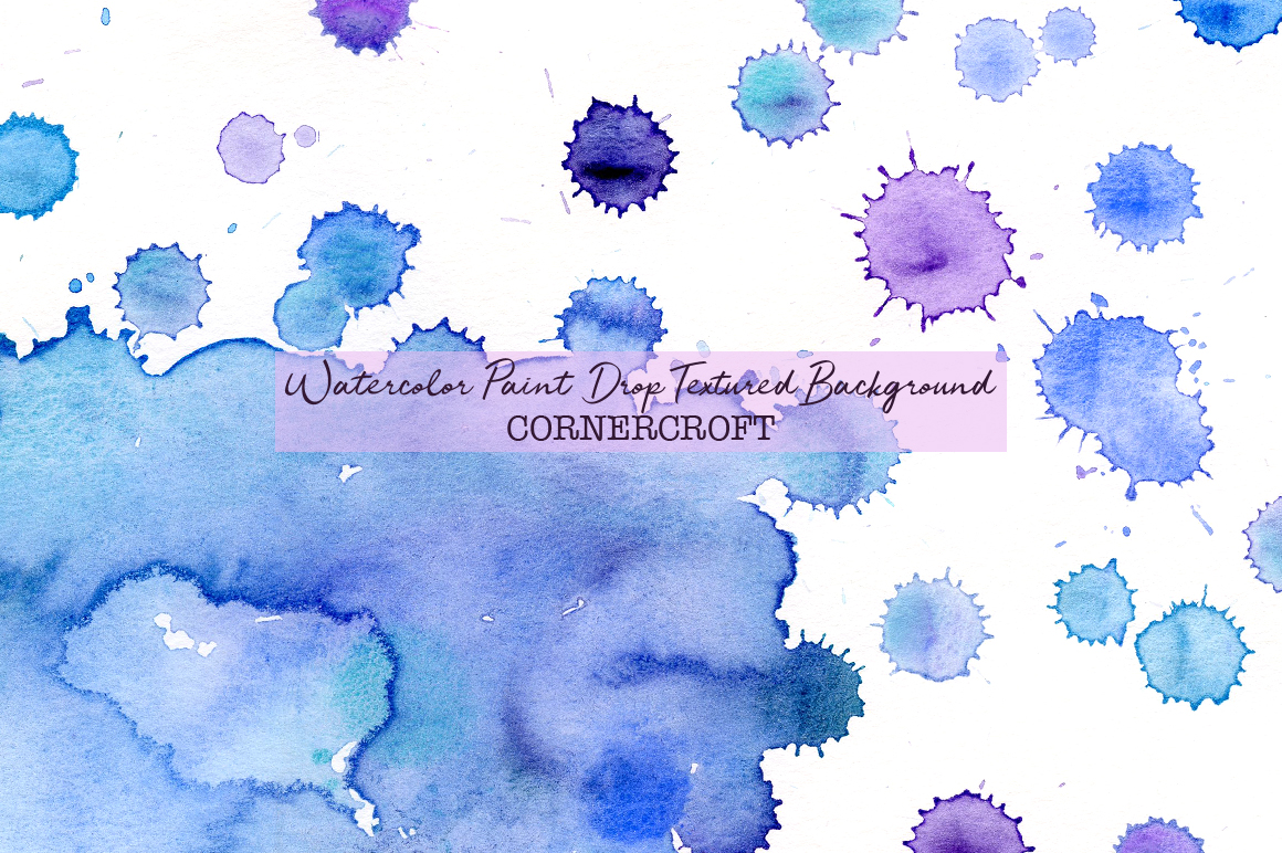 Watercolor paint drops background example image 4