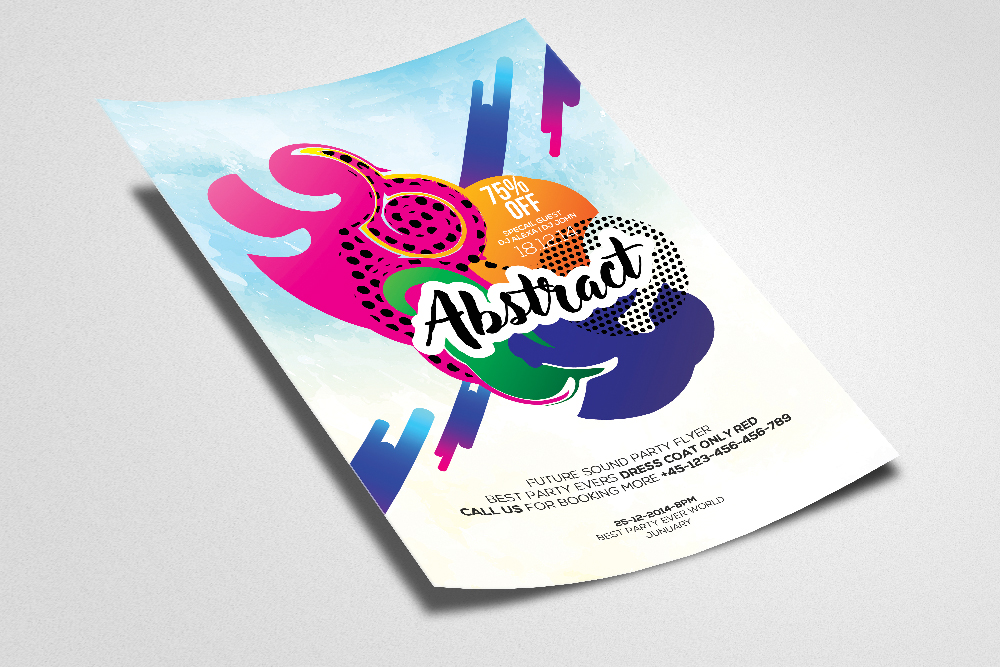 Abstract Flyer/ Poster Template example image 2