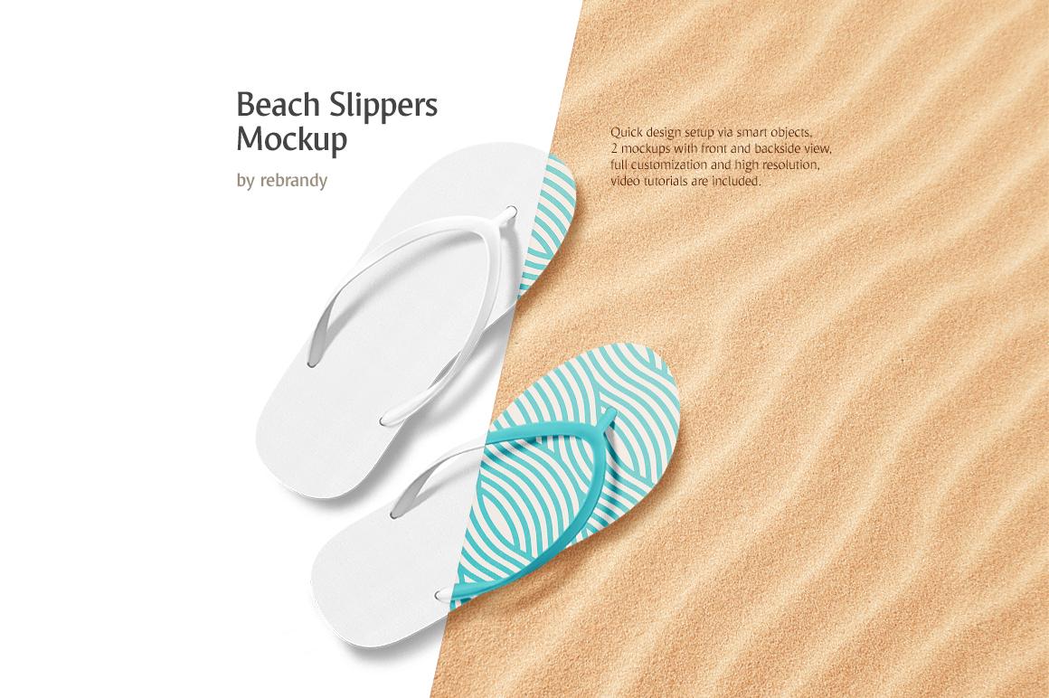 Beach Slippers Mockup example image 1