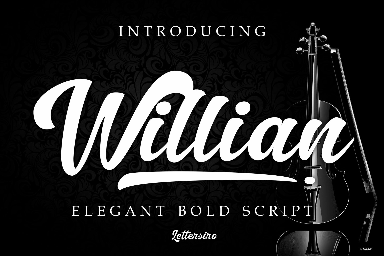 Willian Elegant Bold Script example image 1