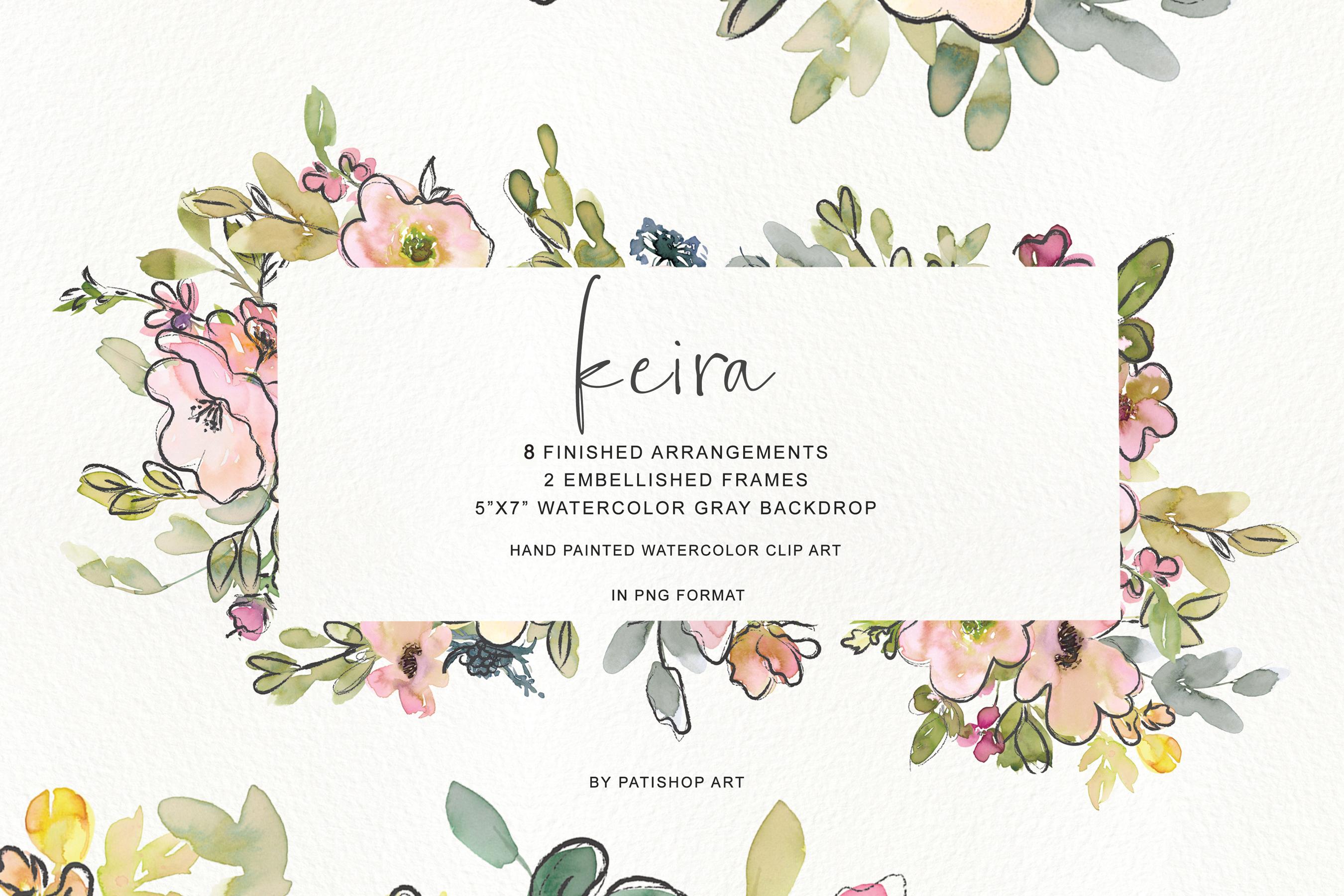 Watercolor Blush and Lemon Colors Floral Arrangements example image 1
