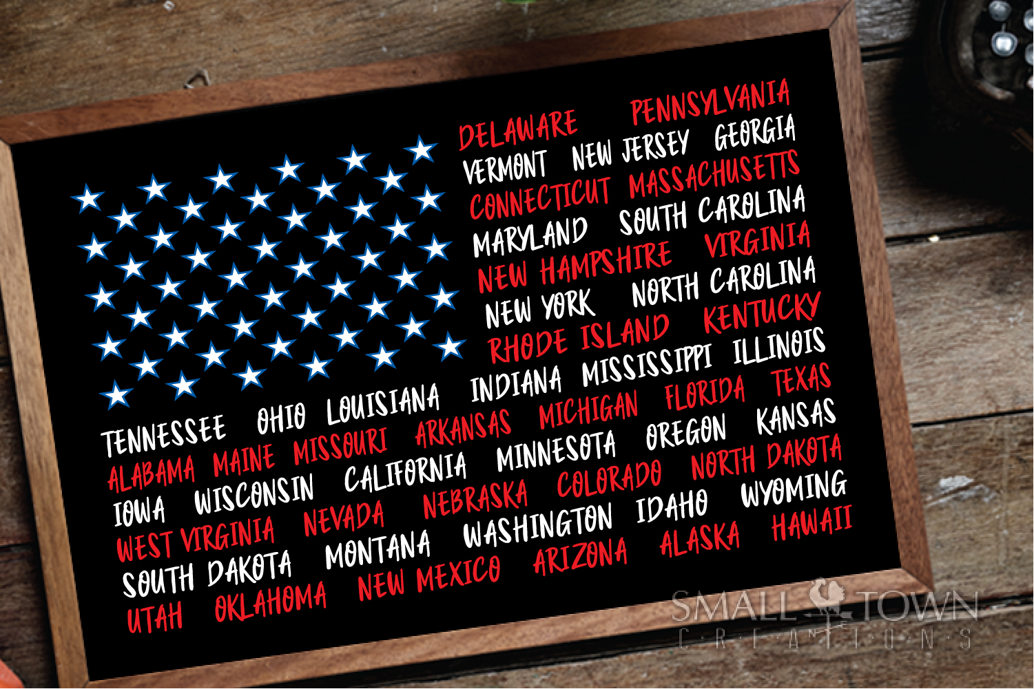 American Flag, USA, Old Glory, States,PRINT, CUT & DESIGN example image 3