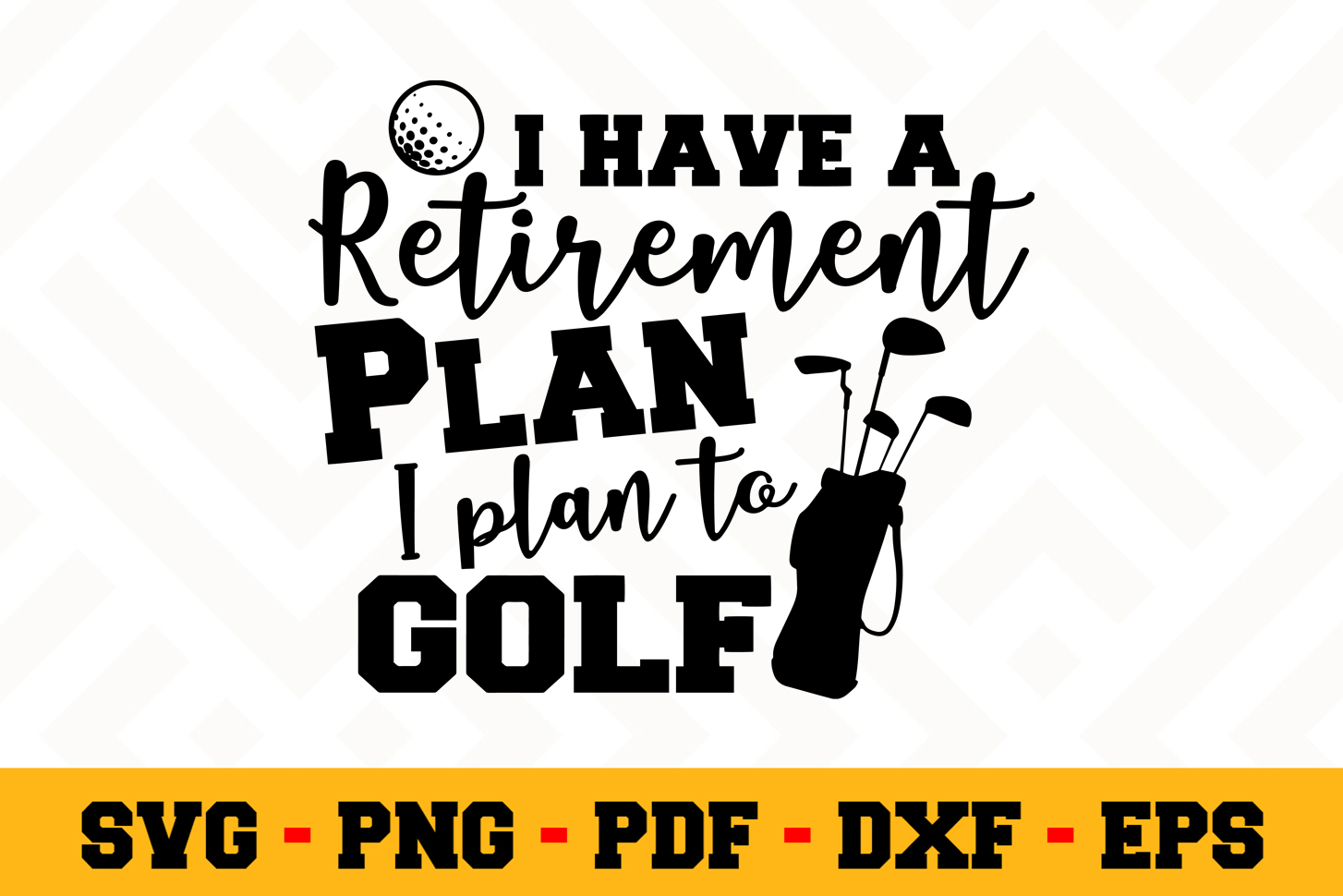 Retirement SVG Design n457 | Retired SVG Retirement Cut File example image 1