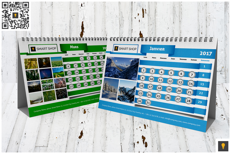 2017 Desktop Calendar example image 6