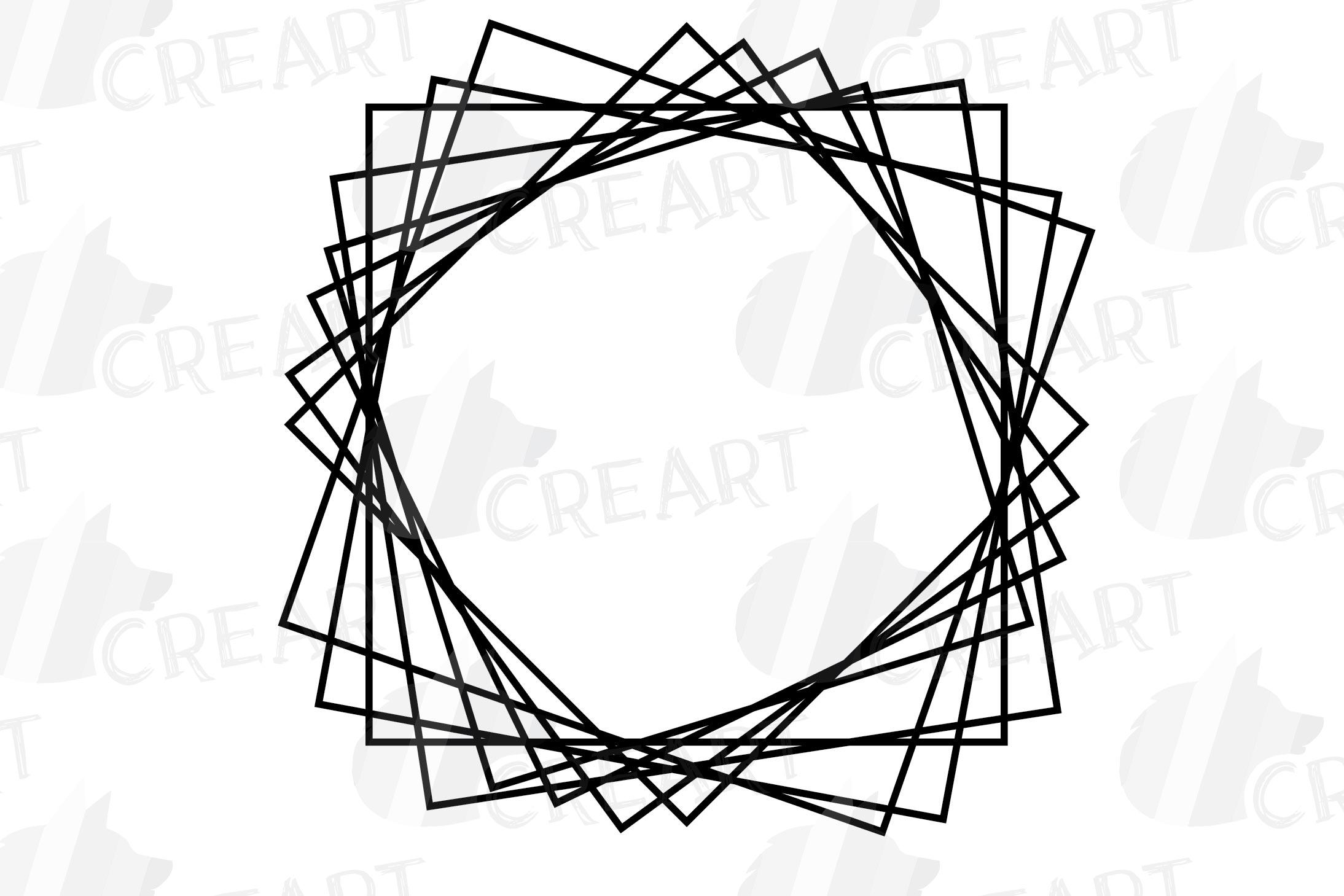 Geometric lineal black frames decor clip art. Wedding border example image 23