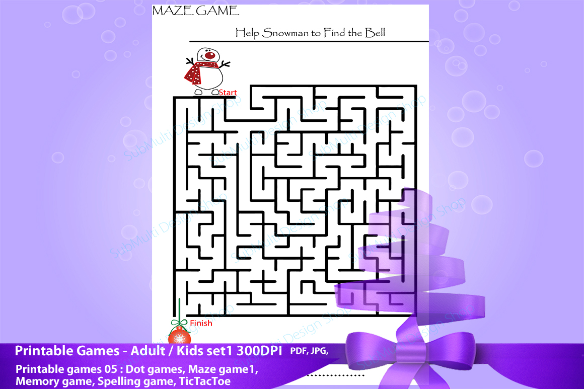 adult games / kids games / travel games /games / dot game, maze game, spelling game,memory game, Tic Tac Toe /High Quality clipart game example image 5