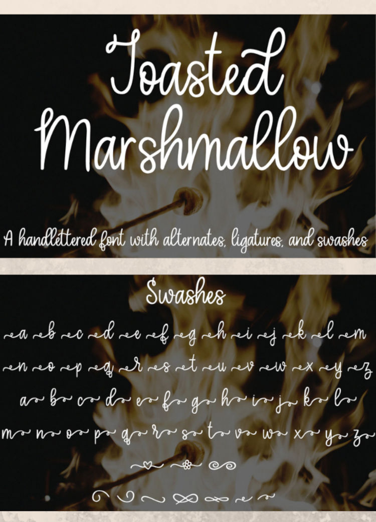 Toasted Marshmallow - A handlettered script font example image 10