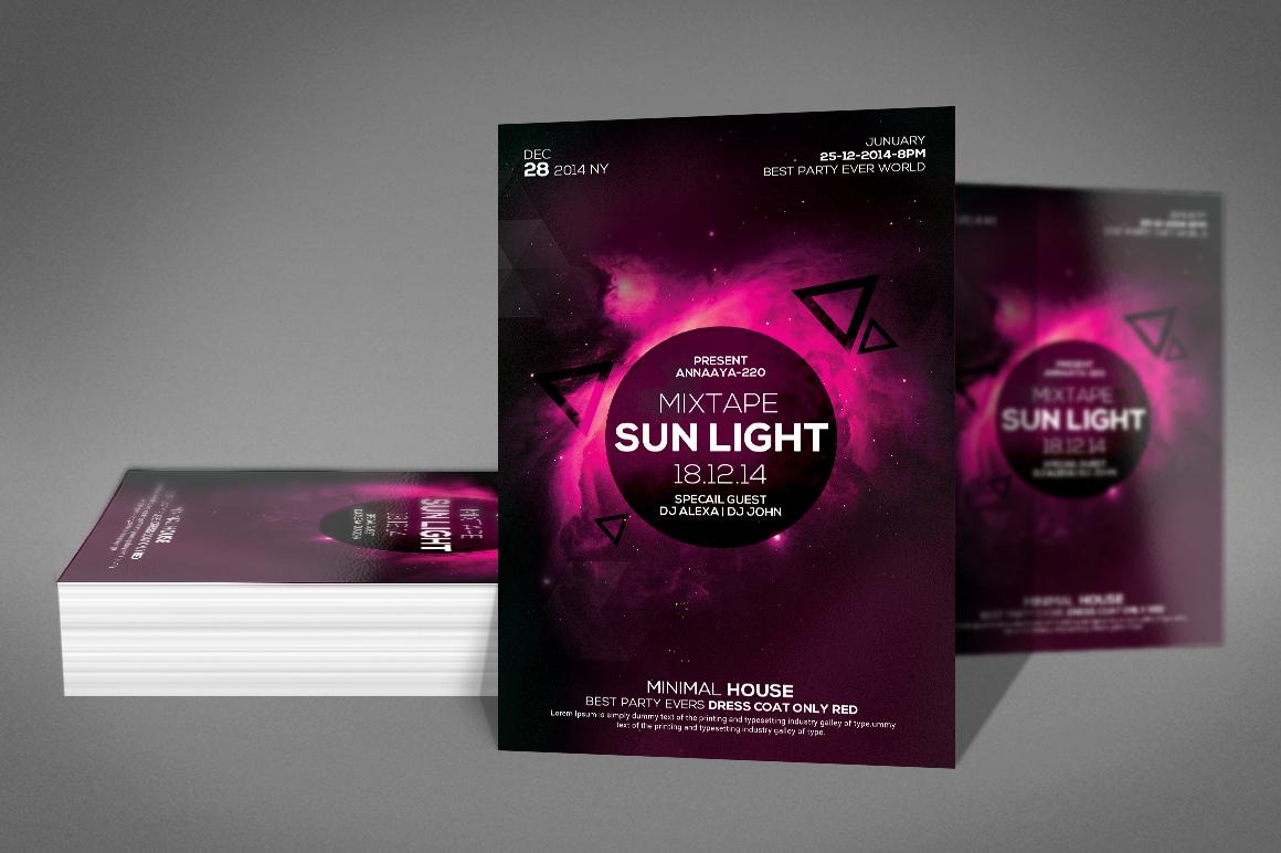 Minimal Sunlight House Flyer example image 2