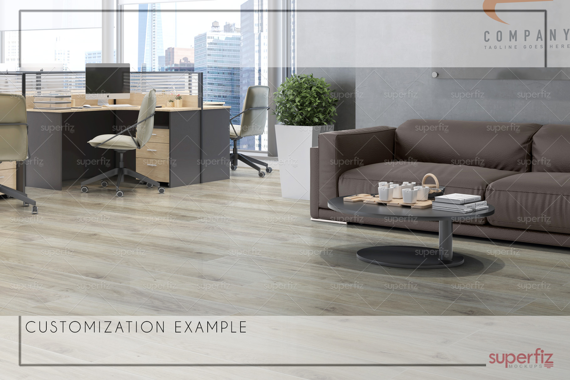 Blank Floor Commercial PSD Mockup SM76 example image 7