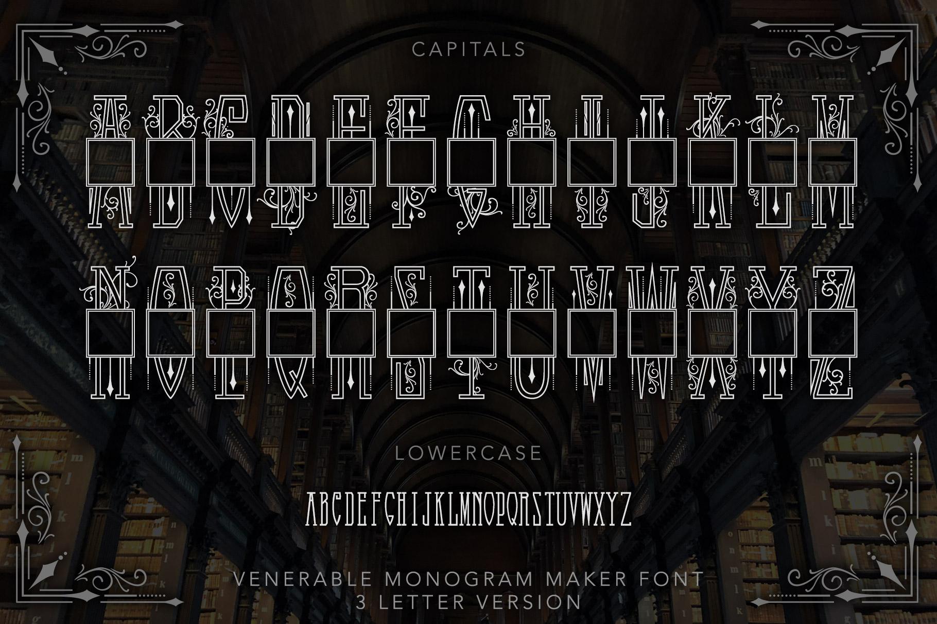 Venerable Monogram Maker Font example image 2