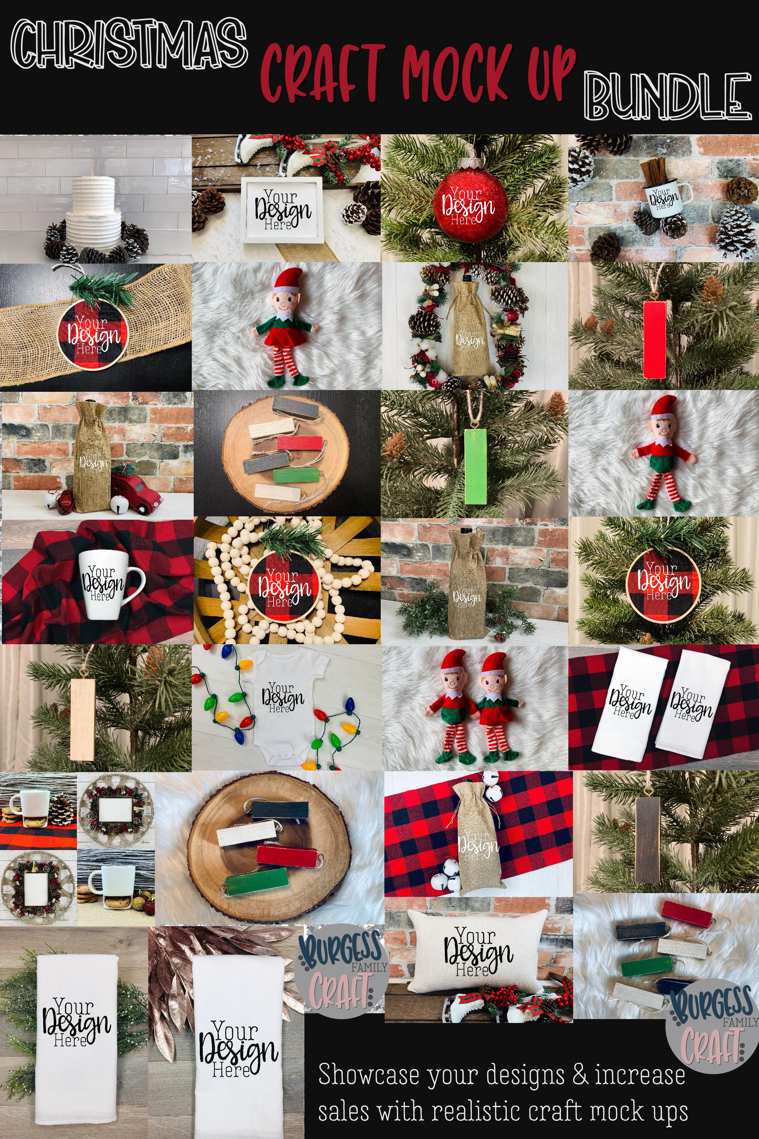 Christmas craft mock up bundle  High Res JPEG example image 2